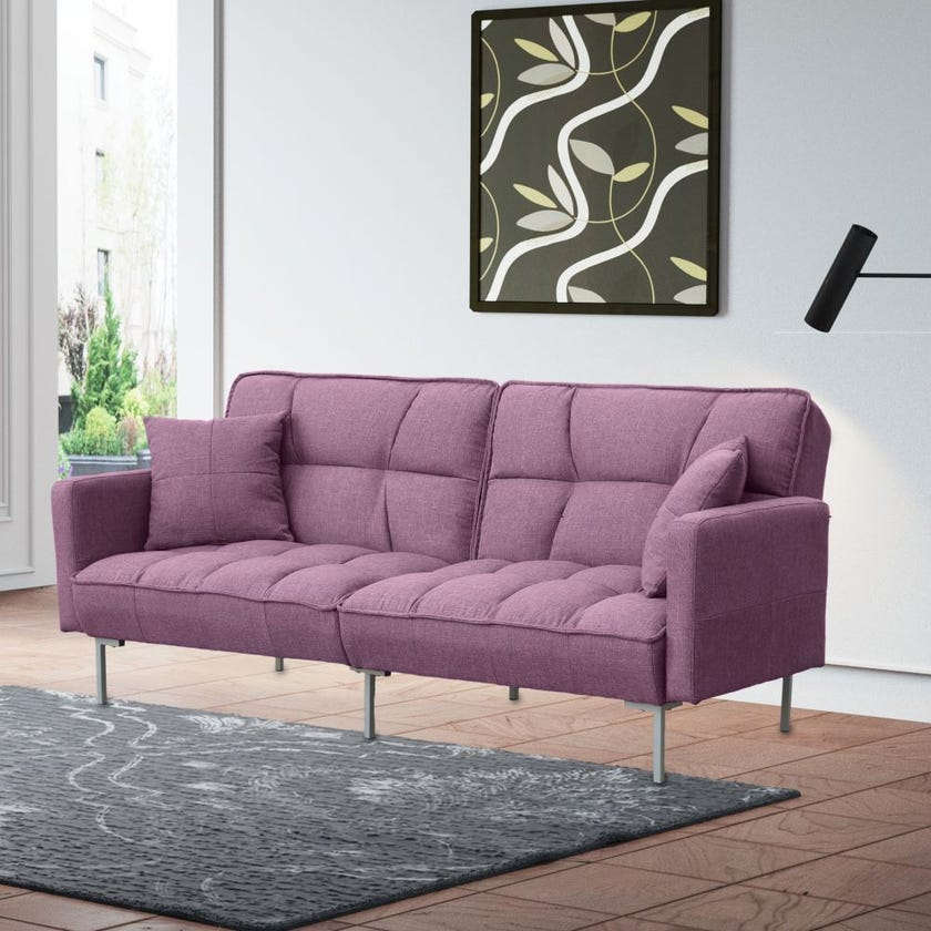Hopkins Fabric Upholstered Sofa Bed - Lilac