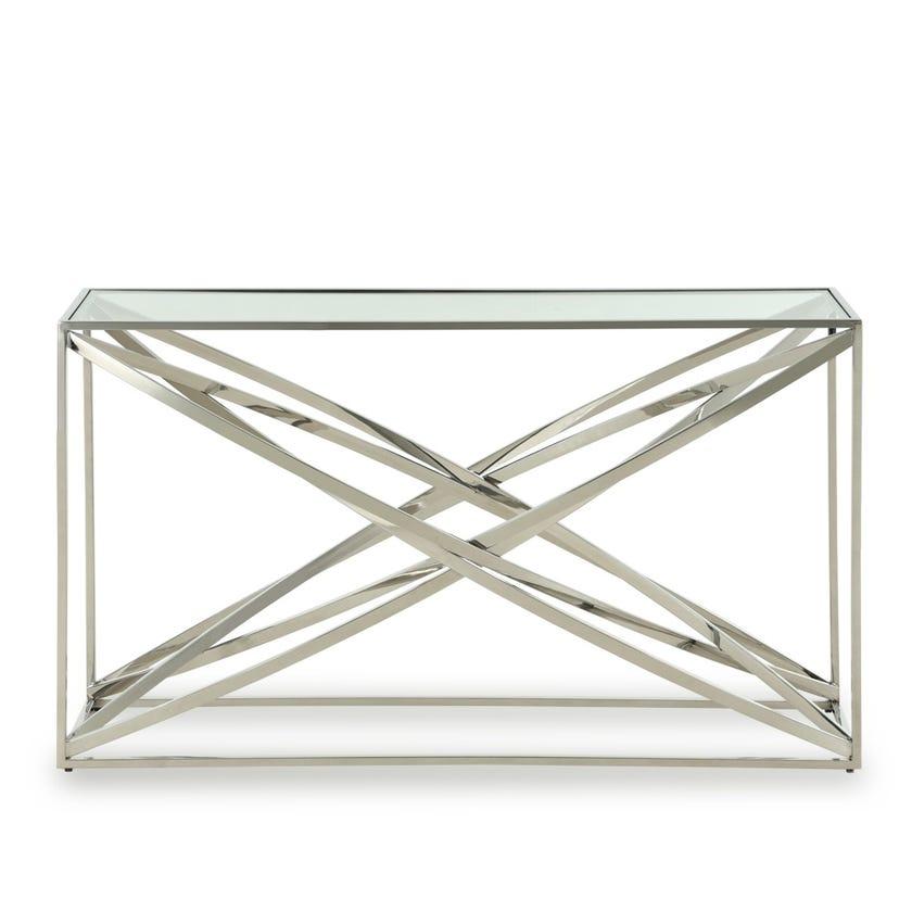 Orbit Metal Console Table - Silver