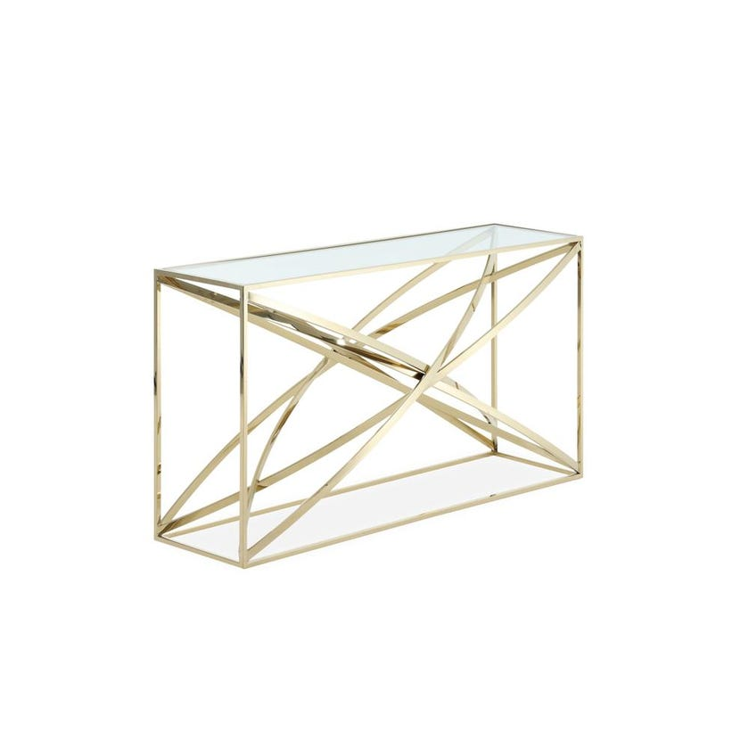 Orbit Metal Console Table - Gold