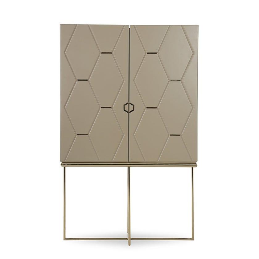 Kate 2-door Bar Cabinet - Cream