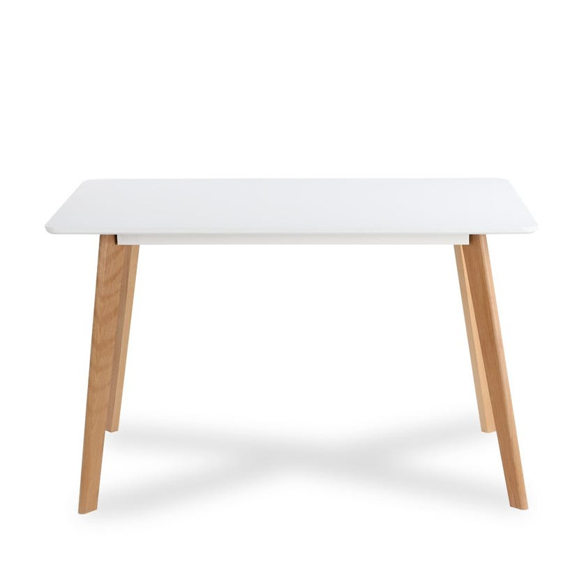 Windsor Engineered Wood 4-Seater Dining Table - White