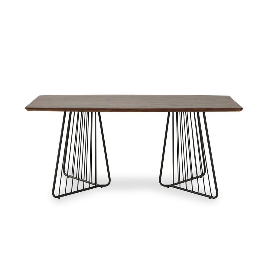 Liner Veneer 6-seater Wooden Dining Table