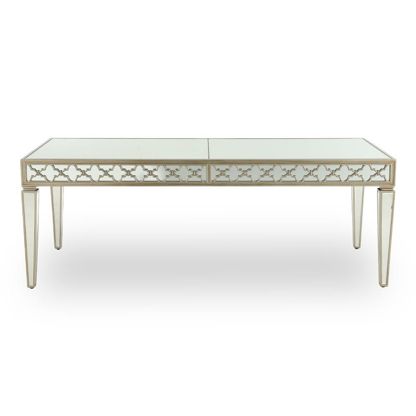 Whitney Mirrored Dining Table - Gold