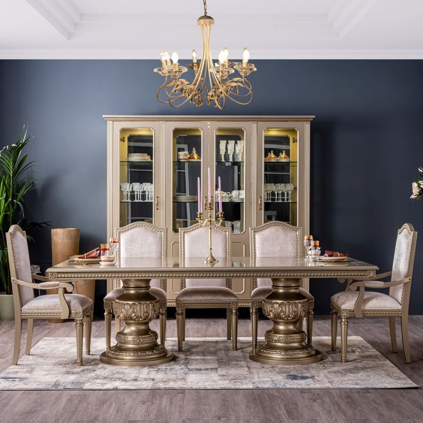 Safiya 8-Seater Dining Table  - Champagne