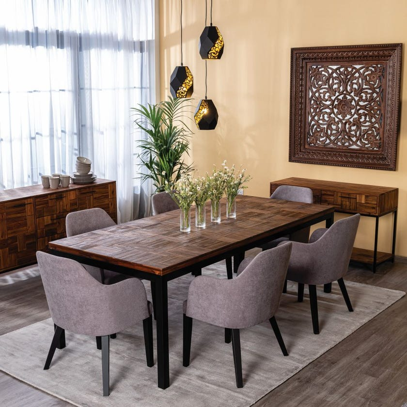 Saigon 6-Seater Wooden Dining Table