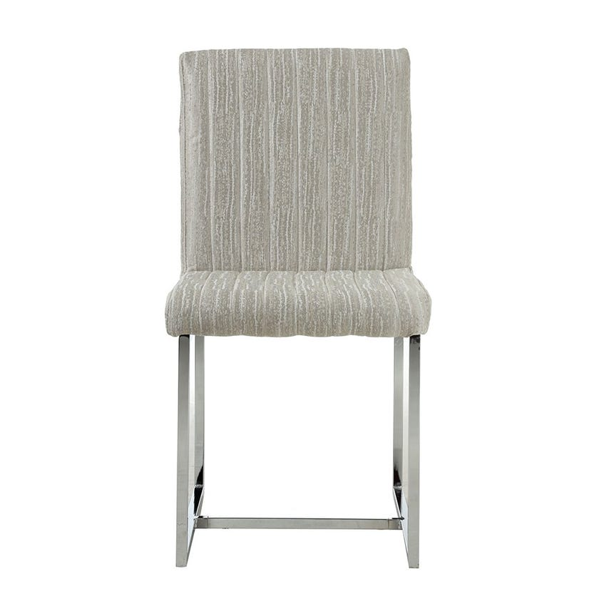 Oliver Fabric Dining Chair, Silver