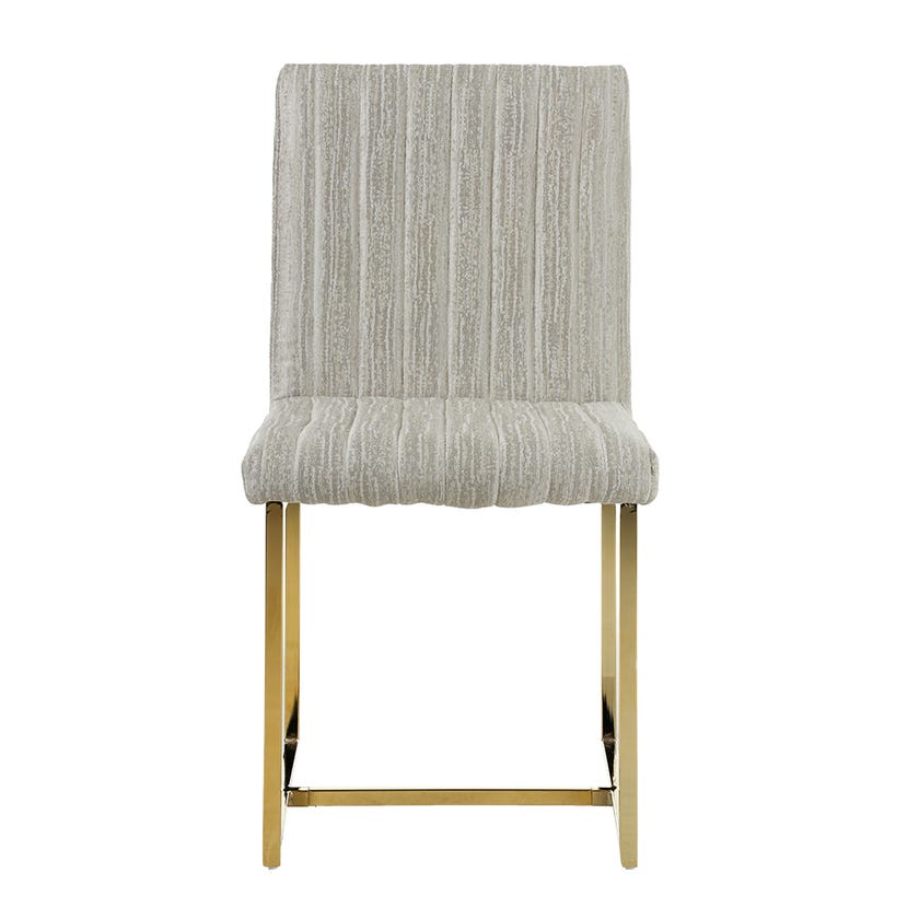 Oliver Fabric Dining Chair, Gold