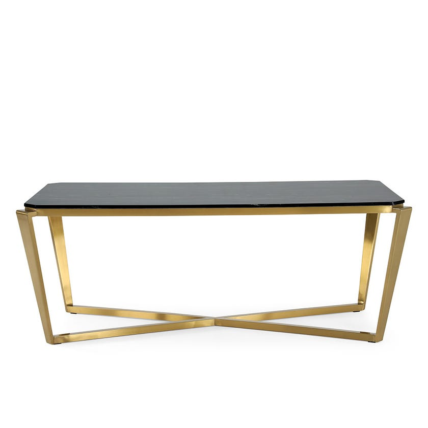 Babylon 6-Seater Dining Table Brown & Gold