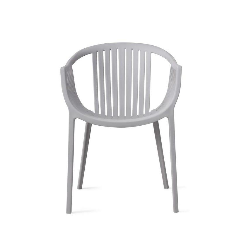 Aeron Polypropylene Dining Chair - Grey