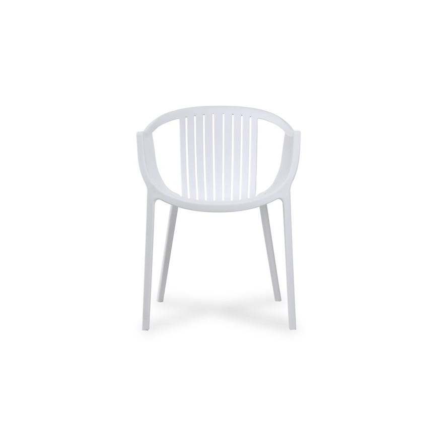 Aeron Polypropylene Dining Chair - White