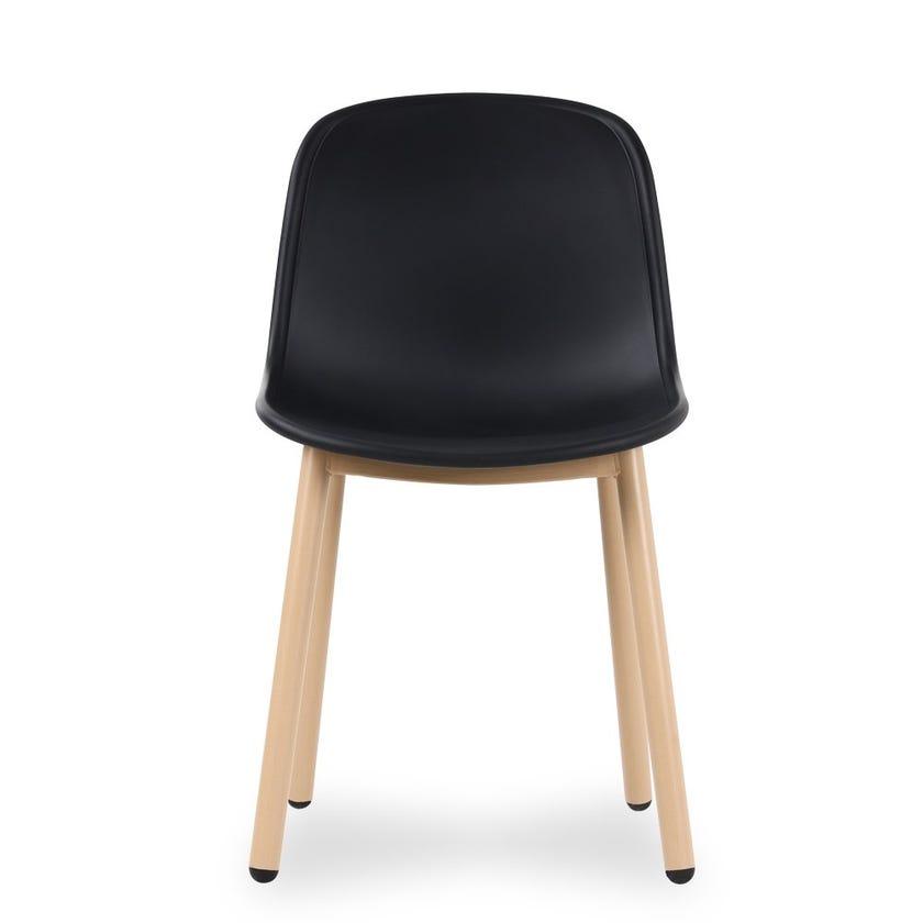 Windsor Metal Dining Chair - Black