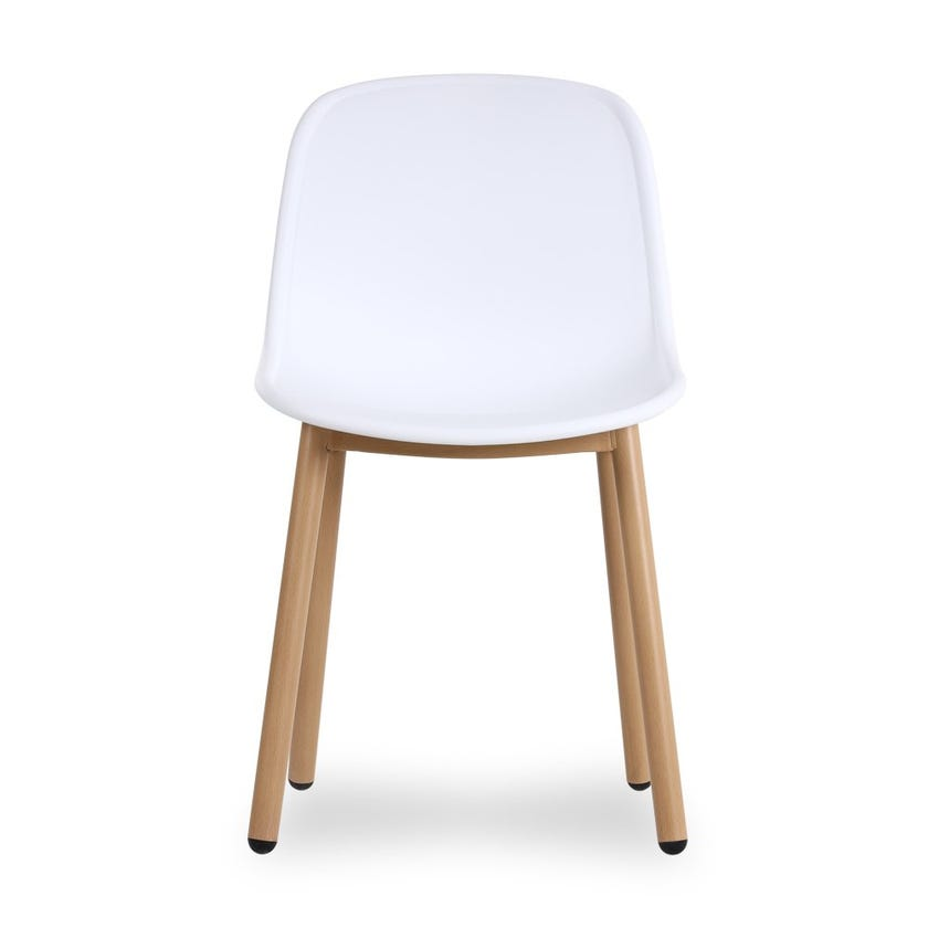 Windsor Metal Dining Chair - White