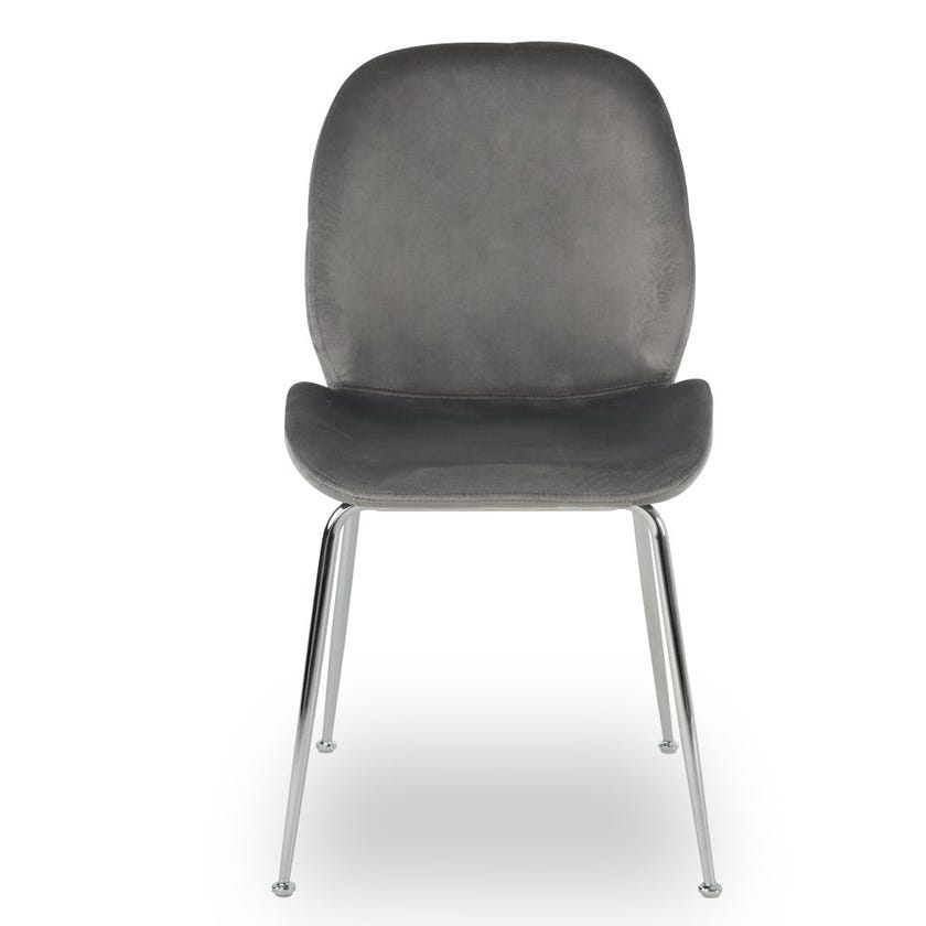 Toshika Fabric Upholstered Metal Dining Chair