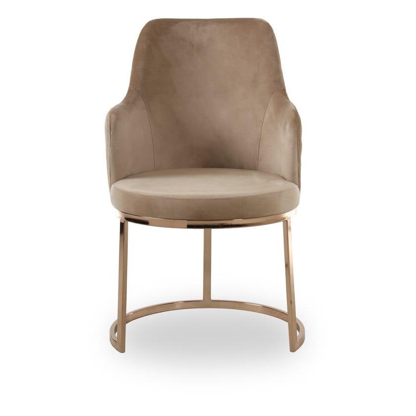 Elegance Dining Chair, Dark Beige
