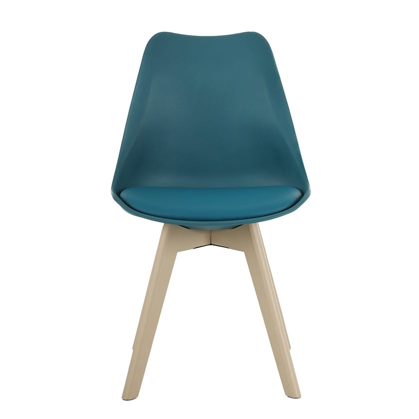 Fraser Wooden Dining Chair - Teal Blue