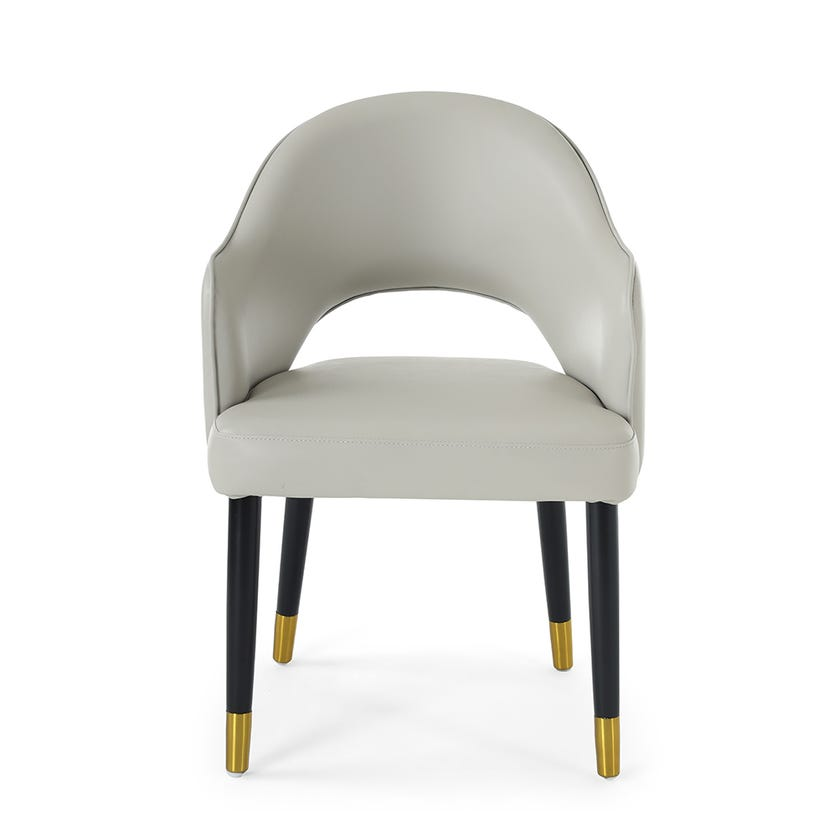 Toledo Dining Chair, White & Gold