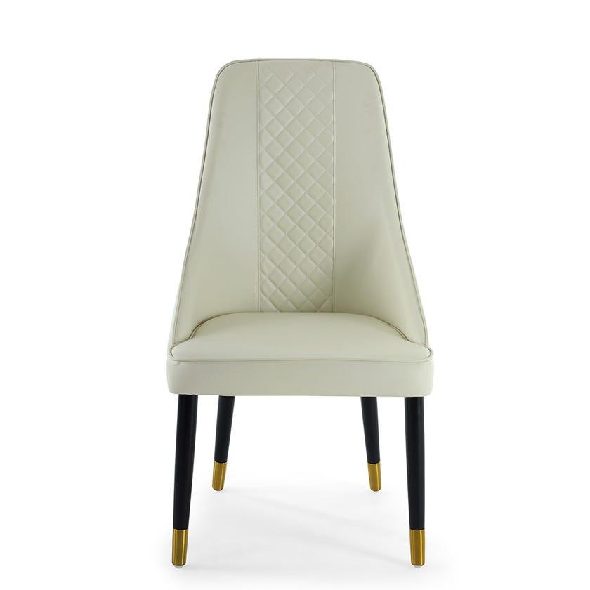 Babylon Dining Chair, Beige & Gold