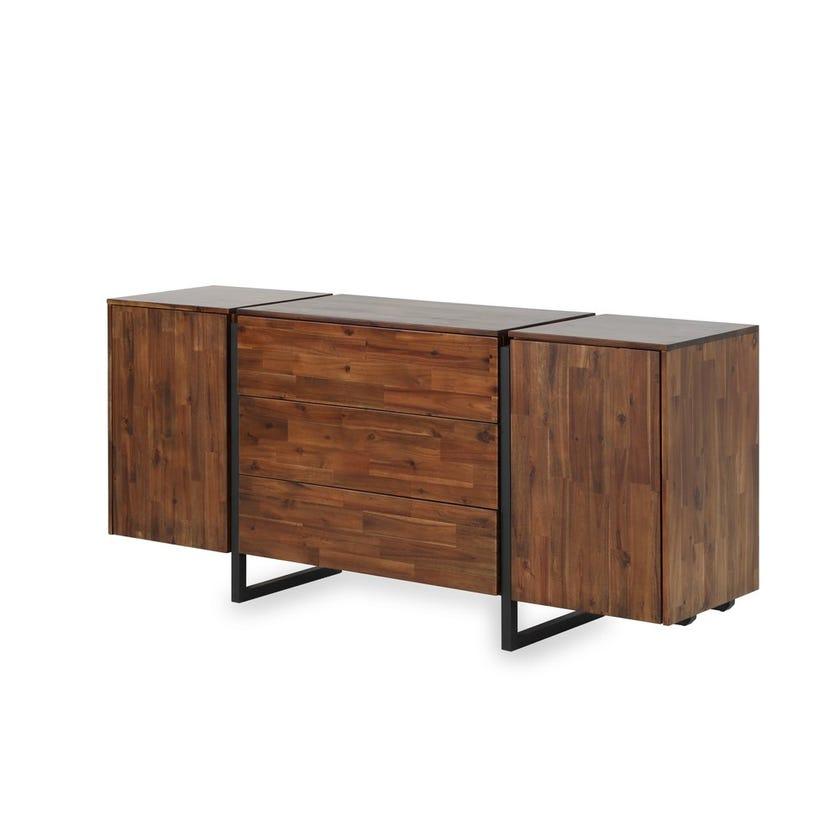 Liner Veneer 3-drawer 2-door Sideboard - Walnut