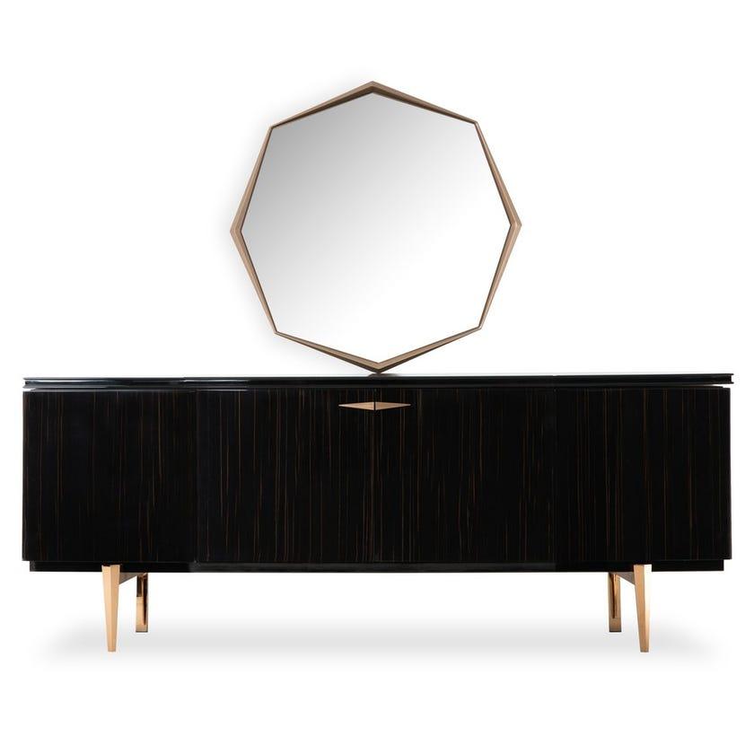 Elegance Sideboard & Mirror, Black