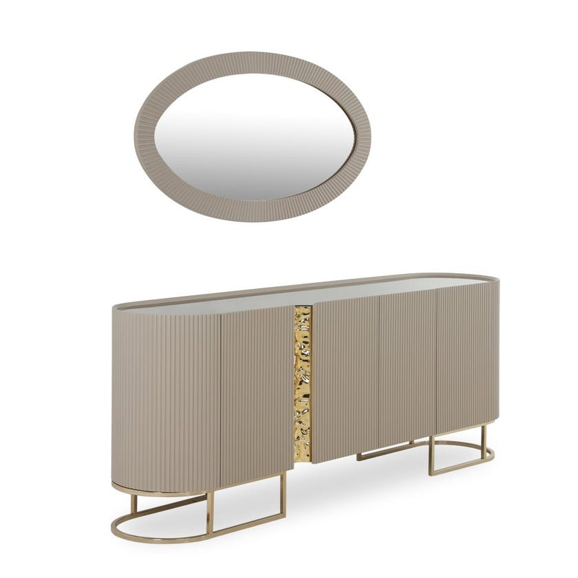 Cyprus Wooden Sideboard With Mirror