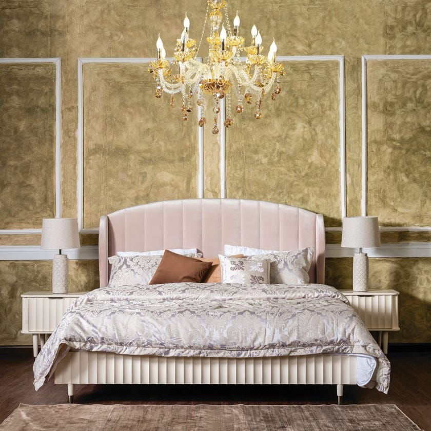Clara King Size Wooden Bed - 180 x 200 cms