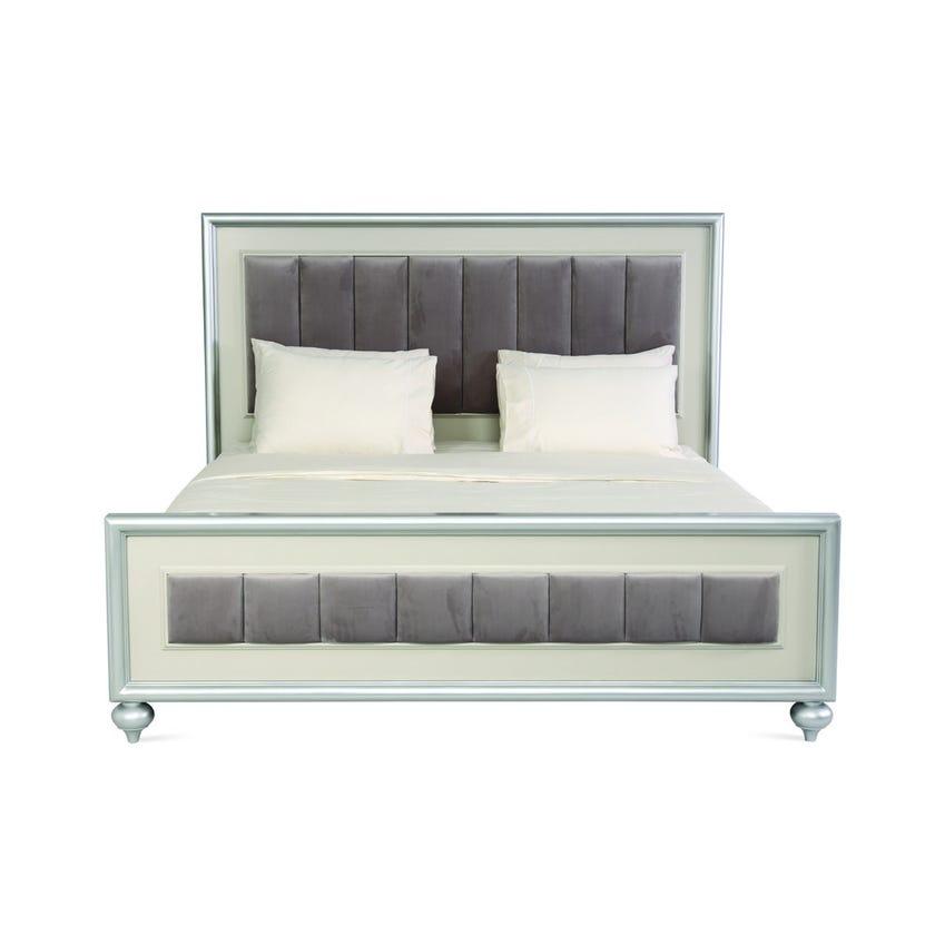 Harrington Engineered Wood King Bed - Silver - 180x200