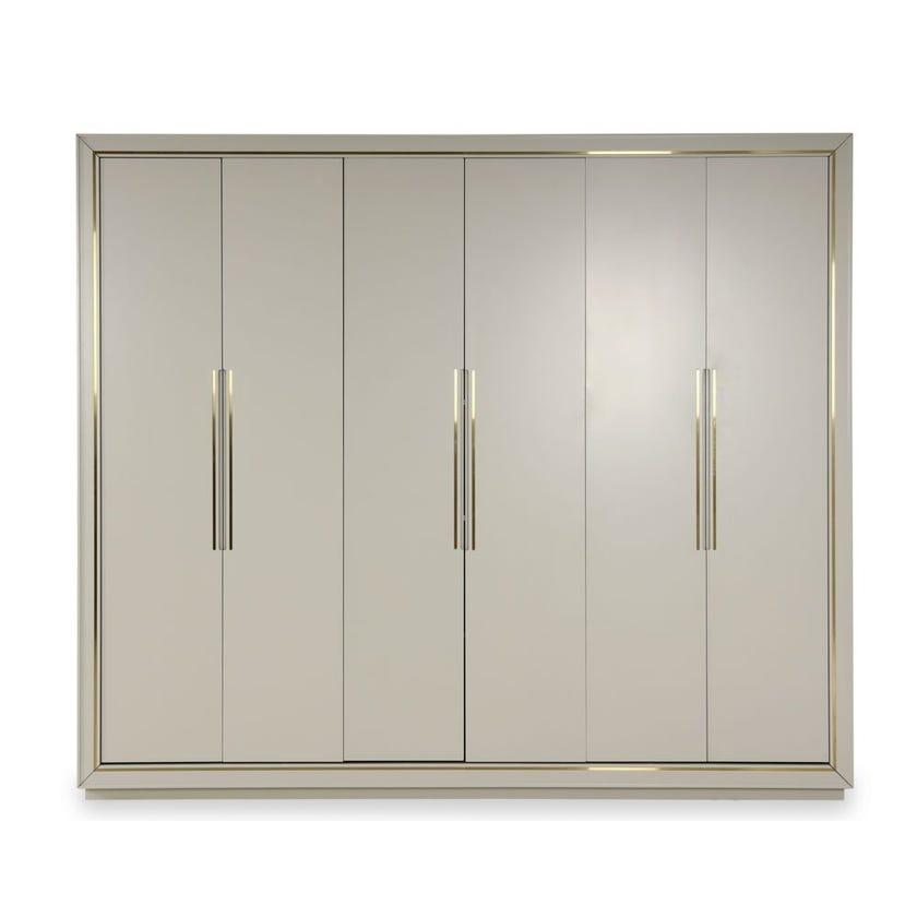 Davis Engineered Wood 6-door Wardrobe - Grey