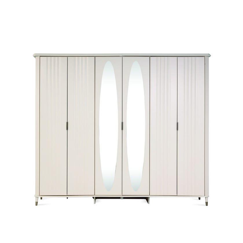 Clara 6-Door Wardrobe with Mirrors