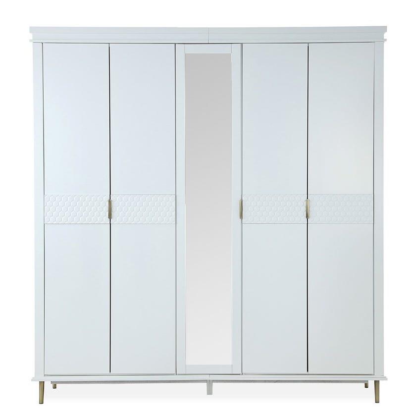 Estella 5-Door Wooden Wardrobe