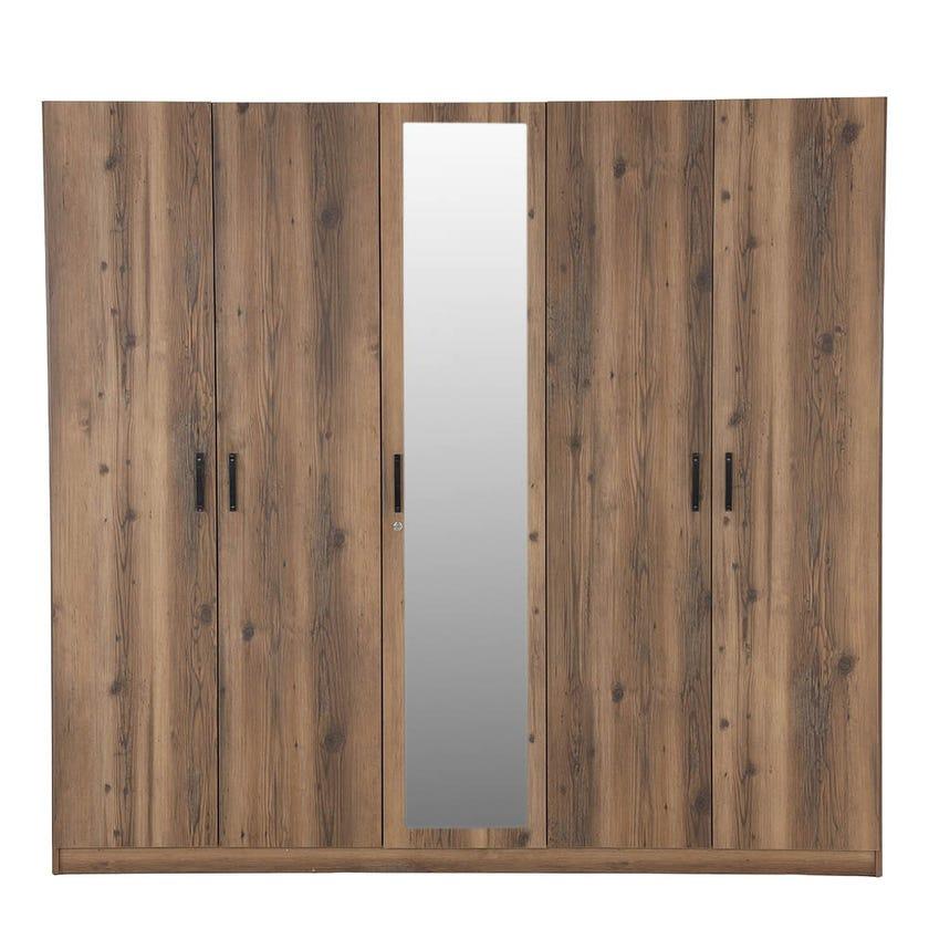 Brave 5-Door Wardrobe, Walnut