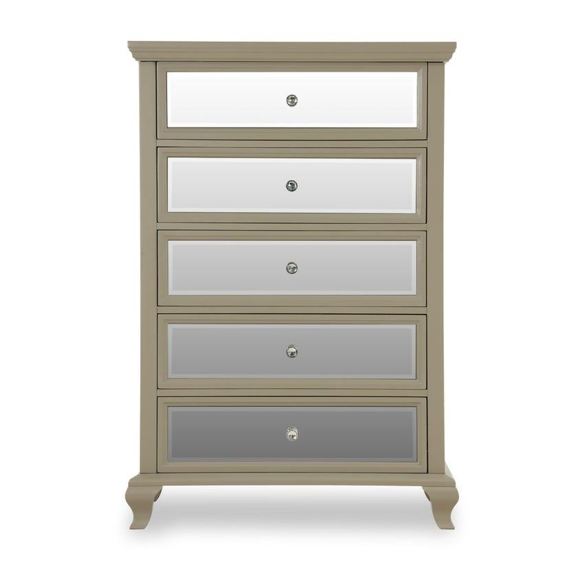 Washington 5-drawer Chest - Grey