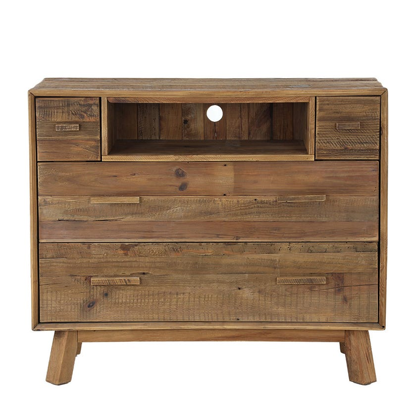 Rayyan Wooden Chest of Drawers, Natural