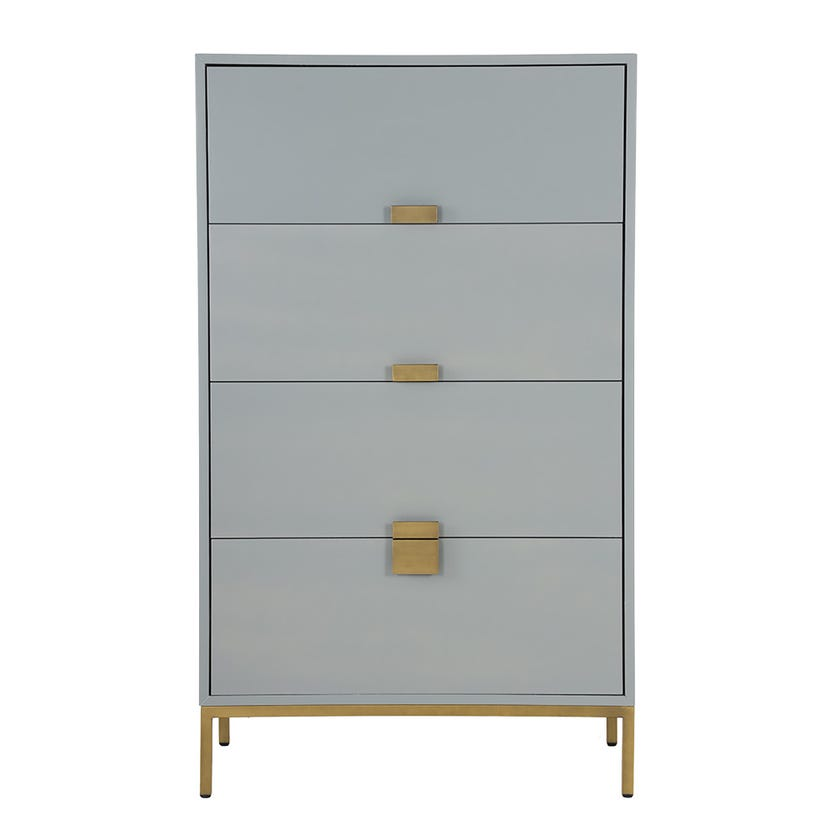 Moanza Chest of 4-Drawers - Grey