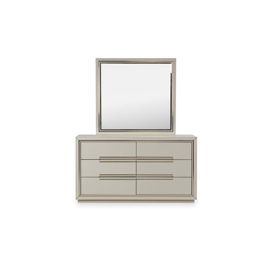 Davis Engineered Wood 6-drawer Dresser with Mirror - Grey