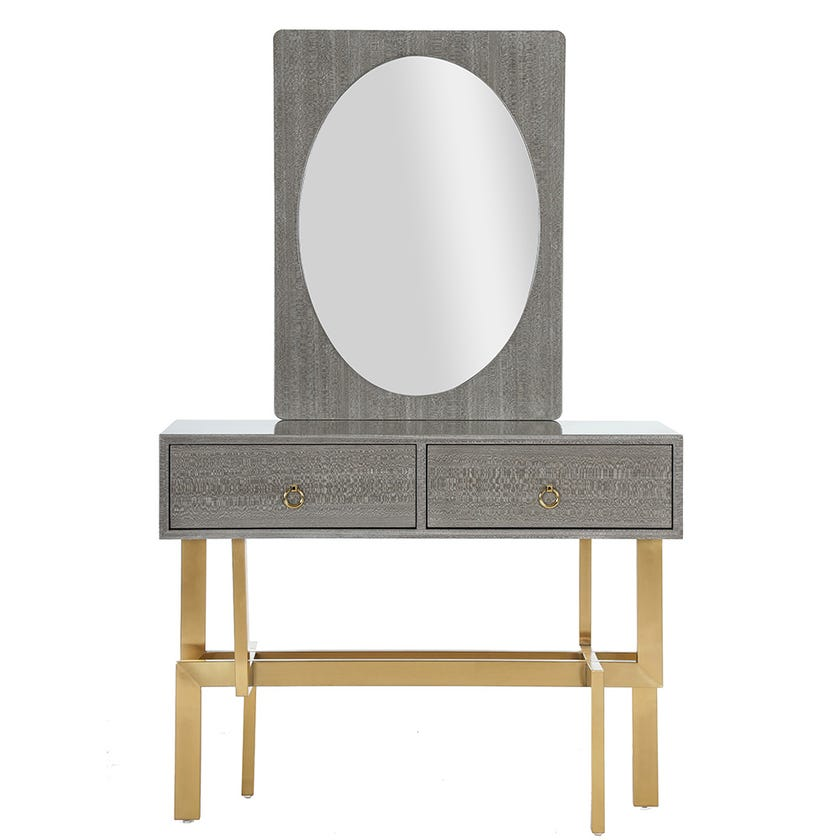 Erica 2-Drawer Dresser with Mirror