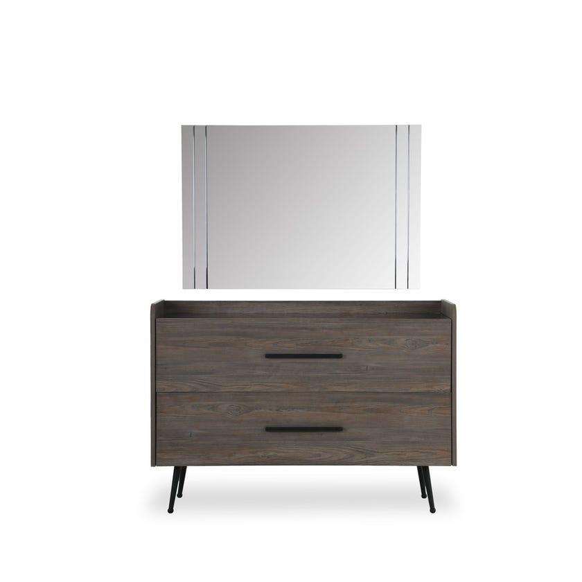 Napoli Dresser with Mirror - Walnut
