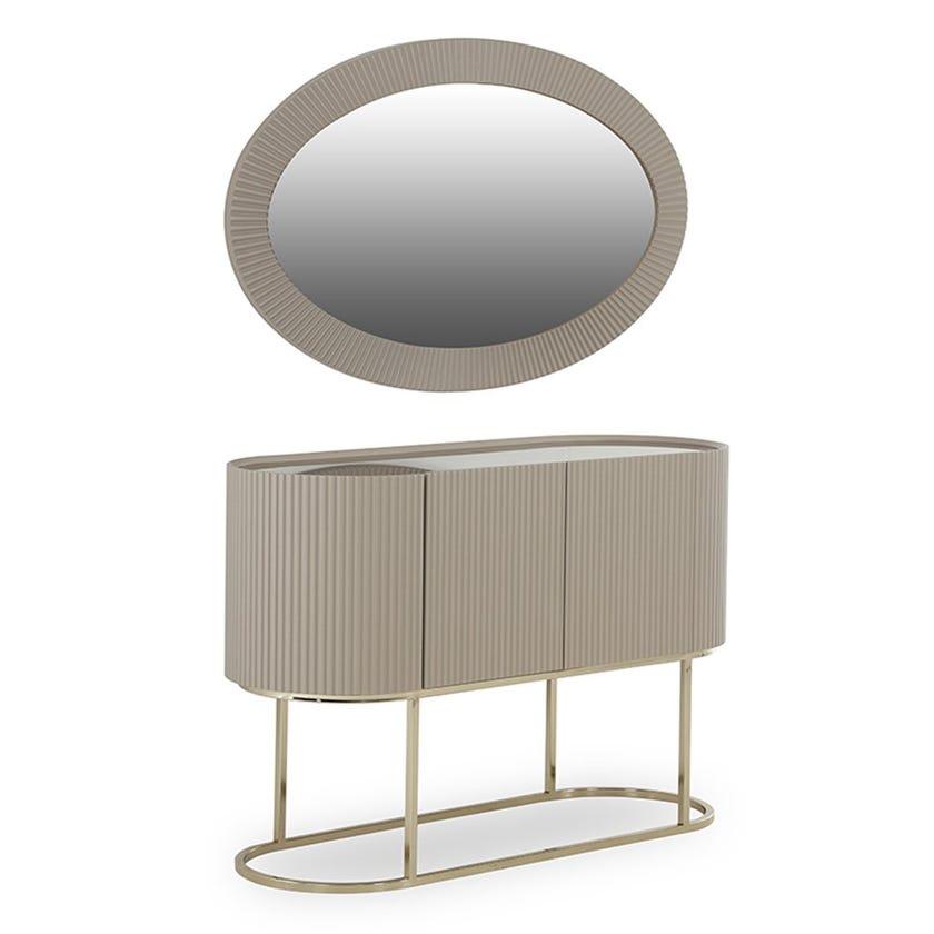 Cyprus 3-Door Console With Mirror
