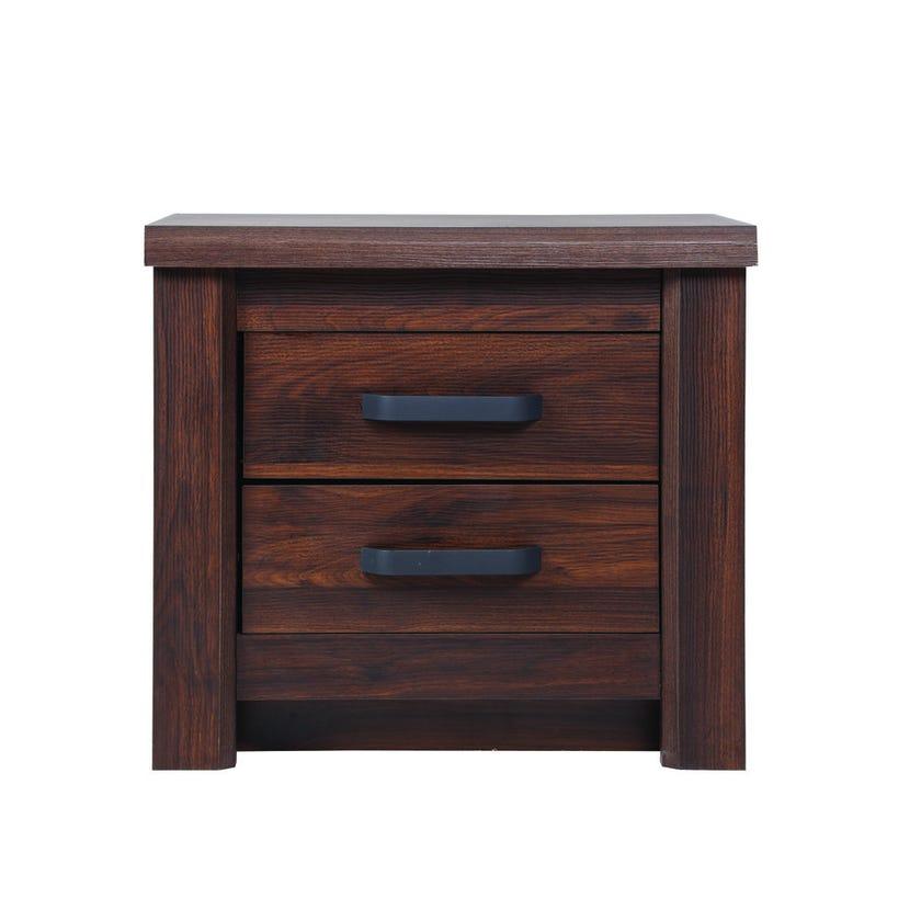 Braxton 2-Drawer Nightstand, Antique Walnut