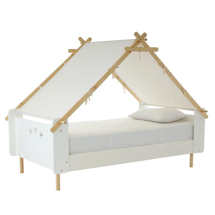 Harmony Bed, White – 110x200 cms