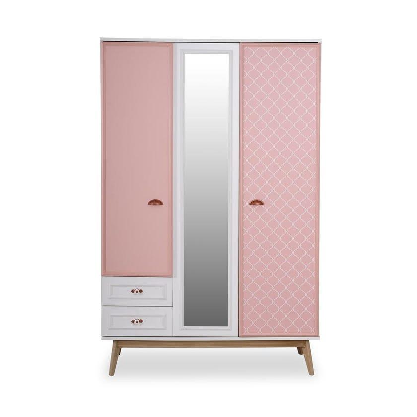 Diana 3-door Wardrobe - Pink