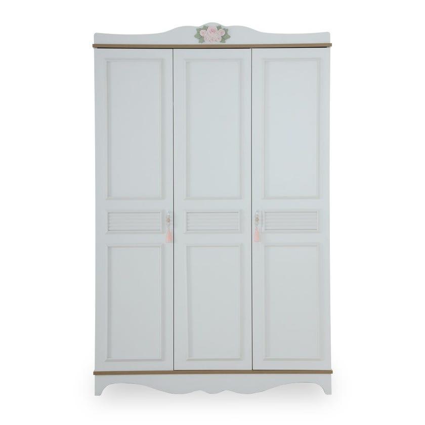 New Laura 3-Door Wardrobe, White