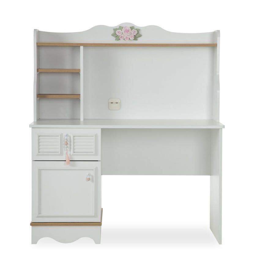 New Laura Wooden Study Desk, White