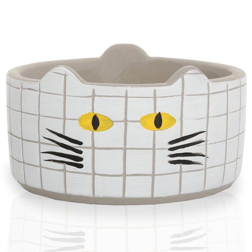 Meow Planter Pot, White – Medium