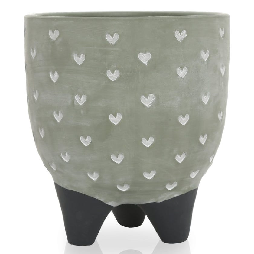 Hearts All Over Pot Stand, Green – Large