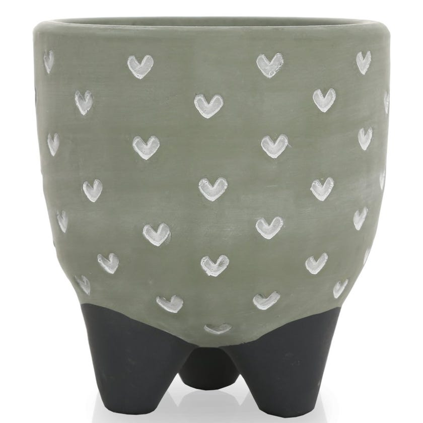 Hearts All Over Pot Stand, Green – Small
