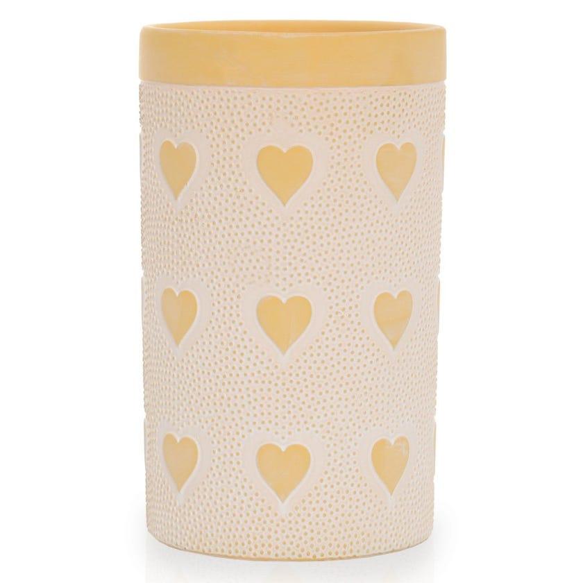 Amor Tall Vase, Yellow
