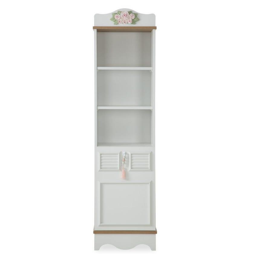 New Laura 3-Shelf Bookshelf With Doorcase, White