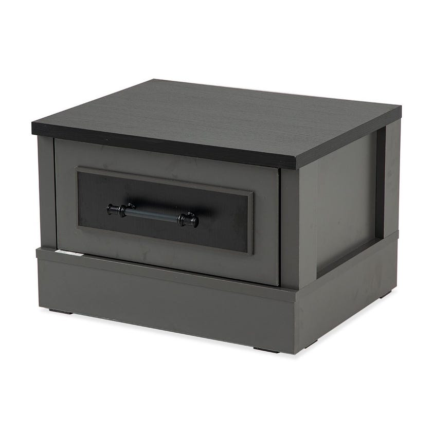 London 1-Drawer Nightstand, Black