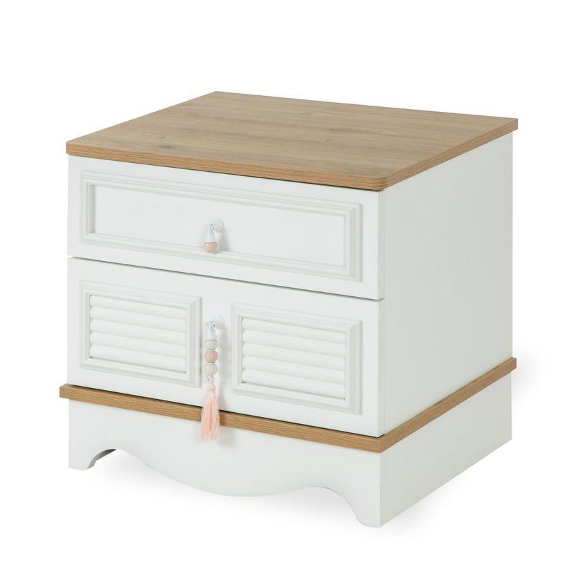 New Laura 2-Drawer Nightstand, White