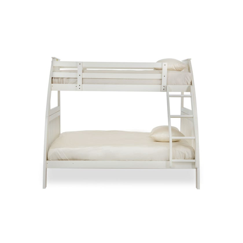 New Lotus Wooden Bunk Bed, White